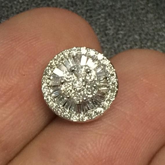 81f44fbd660 Promoção!! Brincos Pizza Em Ouro Branco E Diamantes! - R  3.750