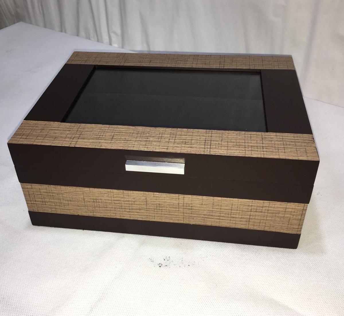5e9626dc550 promoção caixa porta relógios e pulseiras chronos tabaco. Carregando zoom.
