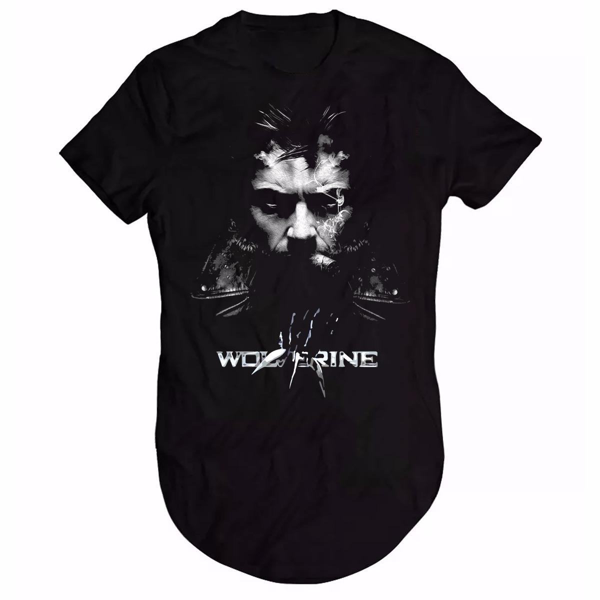 4ba79d30b9 promoção camisa camiseta long line wolverine logan fumando. Carregando zoom.