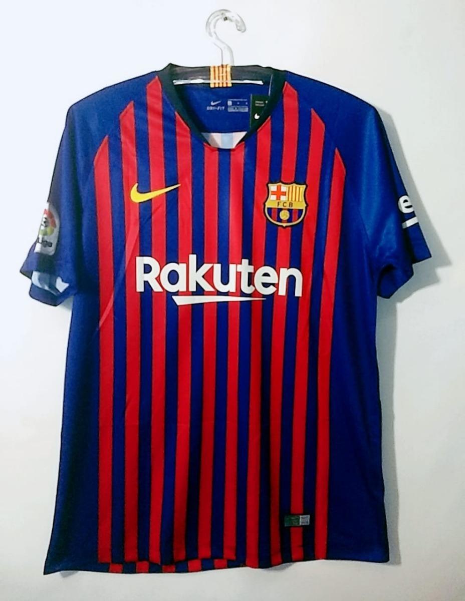 eebb25455a promoção-camisa nike original do barcelona - temp. 18 19. Carregando zoom.