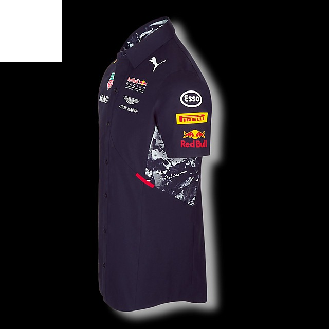 Promoção Camisa Social Red Bull Racing Formula One Team 2017 - R ... 0aaf9fb85809c