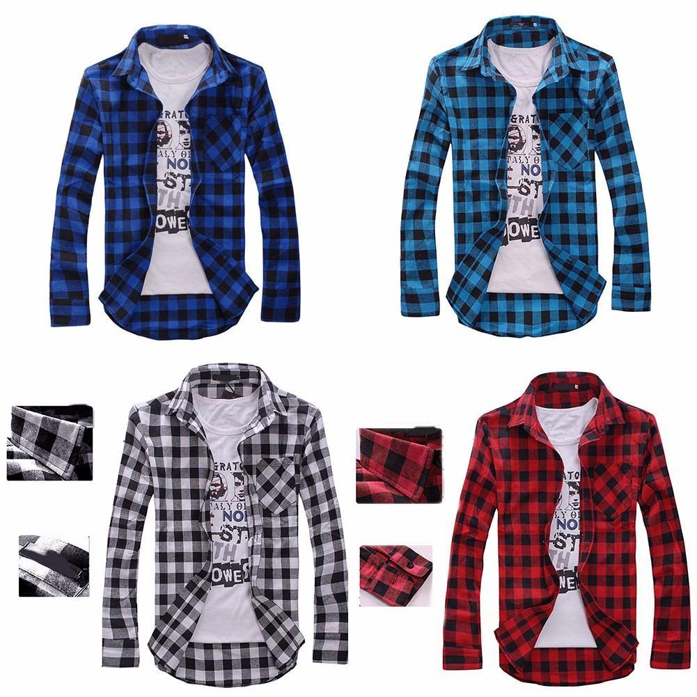 ff3a896b5 promoção camisa xadrez masculina manga longa flanela leve!! Carregando zoom.