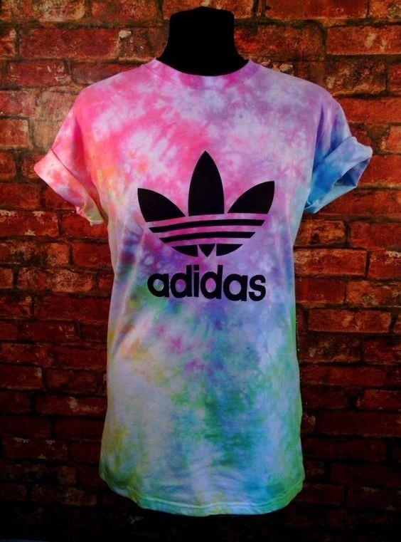 10c7ea182d2 Promoção Camiseta Tie Dye adidas Colorida - R  49