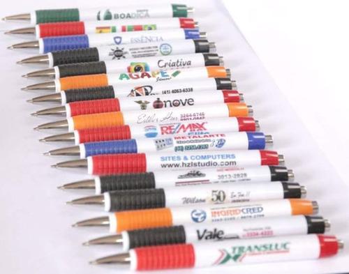 promoção! canetas personalizadas  arte colorida r$0,85 und