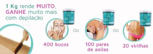 promoção cera de cacau depilação bela brasil depil - 1kg