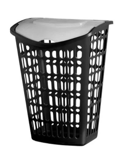 promoção cesto roupa 40 litros com tampa telado  organizador