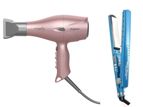 promoção combo prancha babby liss e secador  fox ion 3 rose