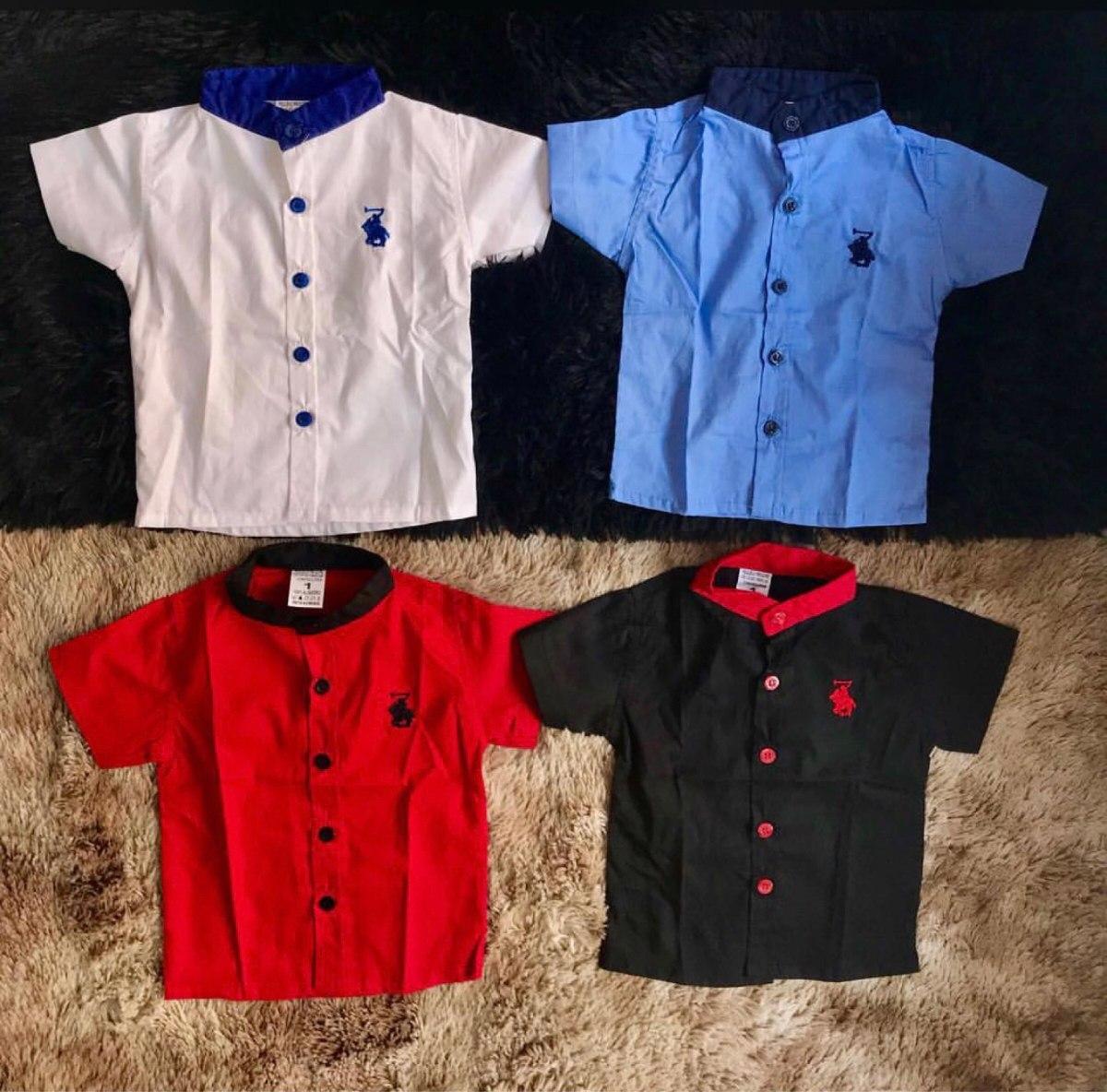 cc61fdf851e75 promoção conjunto infantil camisa gola padre,bermuda cordão. Carregando  zoom.