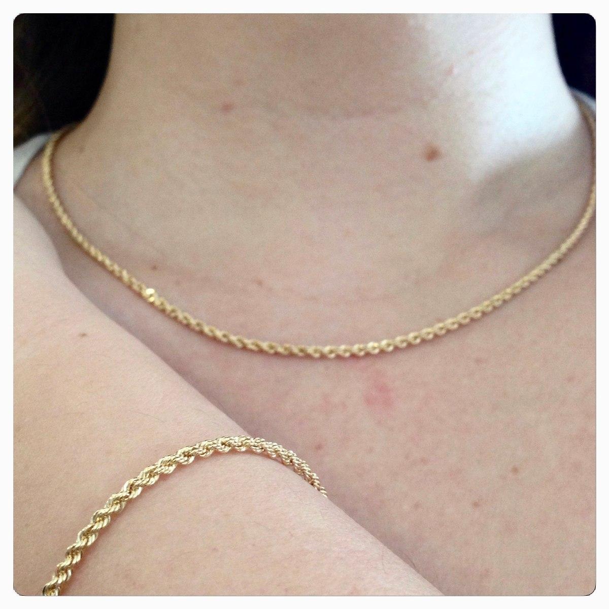 promoção cordão corrente colar baiano+pulseira ouro 18k 40cm. Carregando  zoom. 5b1fe64ad5
