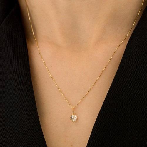 promoção cordão corrente feminina ponto de luz ouro 18k 750