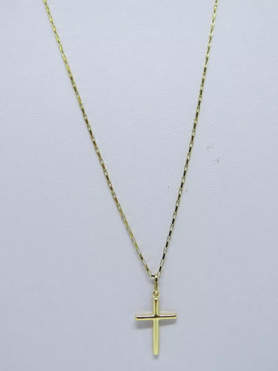 b4c3fb40a358b promoção cordão corrente masculina 60cm + crucifixo ouro 18k. Carregando  zoom.