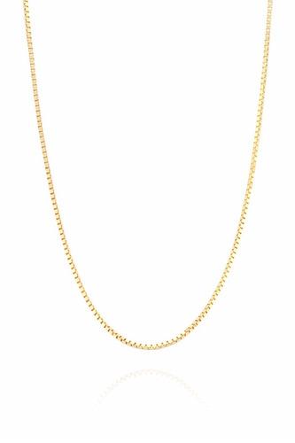 promoção cordão corrente veneziana 60cm ouro 18k 750 maciça