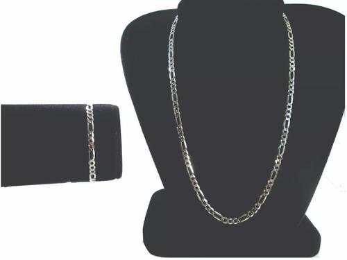 promoção corrente 70 cm pulseira 19 cm em prata maciça 925