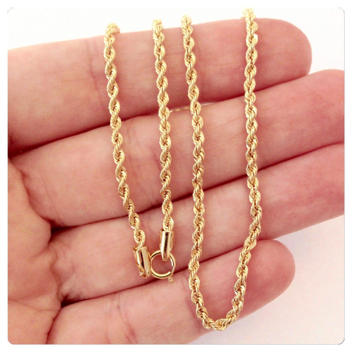 promoção corrente cordão 40 cm torcido baiano joia ouro 18k. Carregando  zoom. f313e26d23