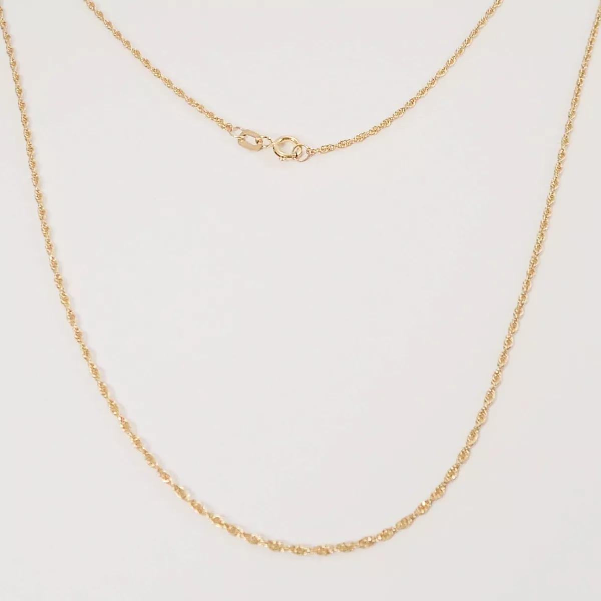 promoção corrente cordão 50cm torcido baiano 1.45gr ouro 18k. Carregando  zoom. aef97a1277