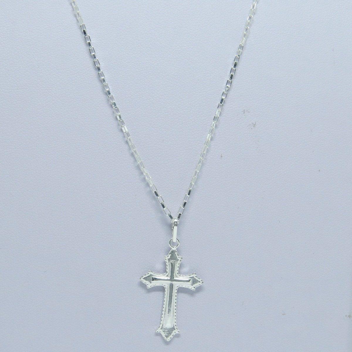 31845605dc promoção corrente cordão 60cm e pingente crucifixo prata 925. Carregando  zoom.