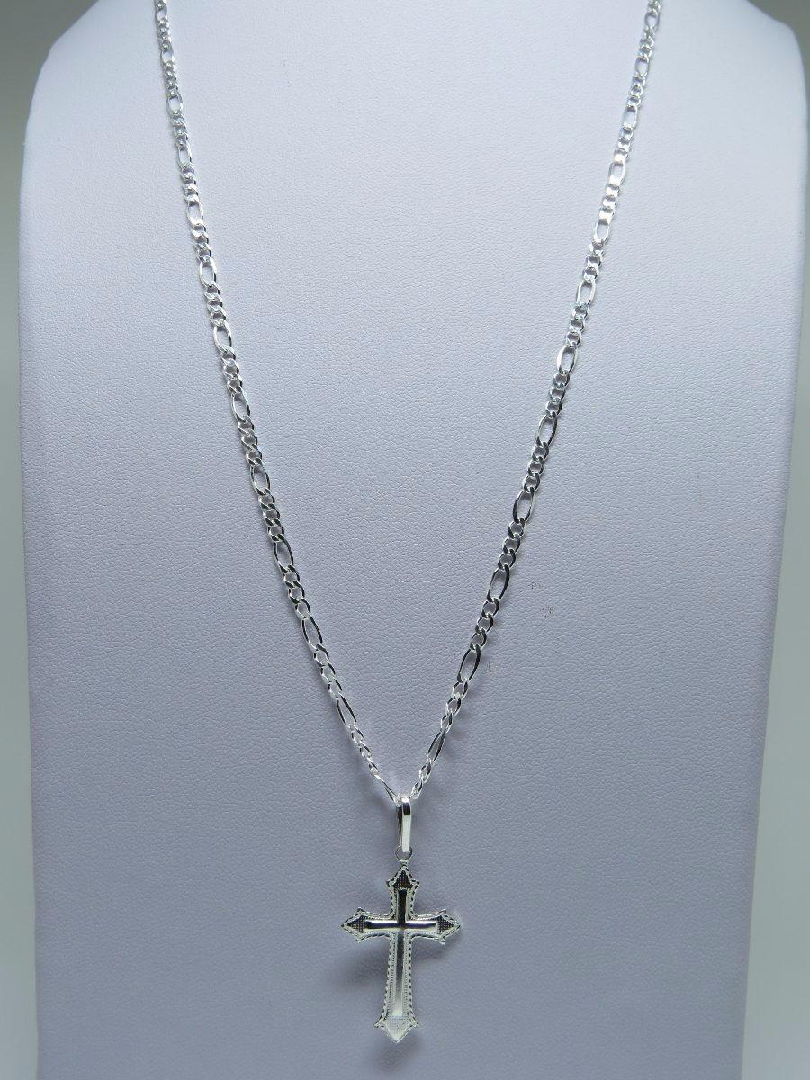 c5e81cab8f promoção corrente cordão 60cm + pingente crucifixo prata 925. Carregando  zoom.