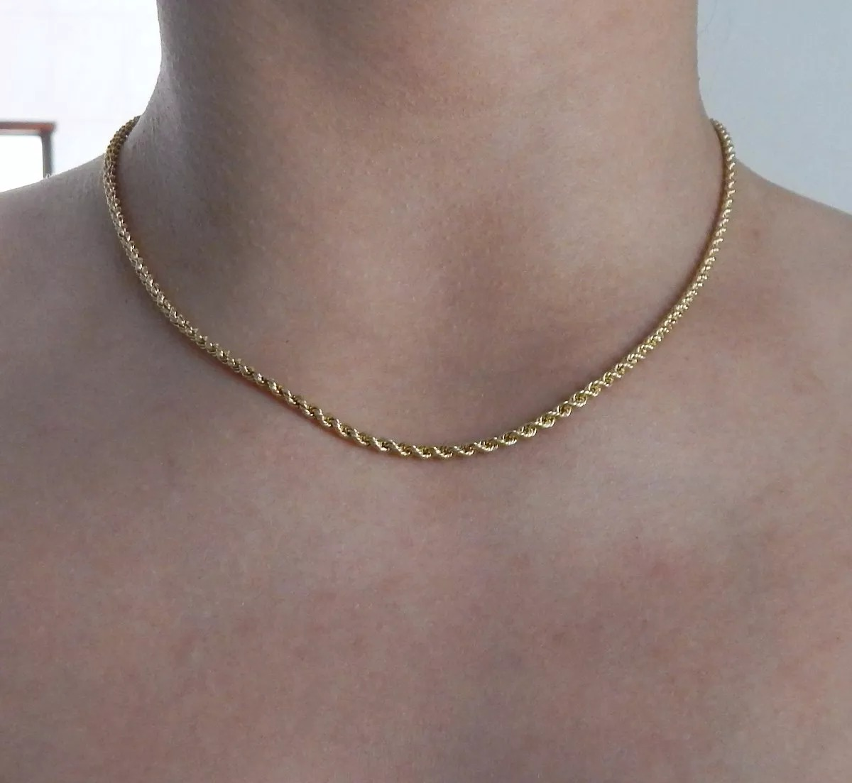 promoção corrente de 40 cm torcido baiano joia ouro 18k. Carregando zoom. 3836569a28