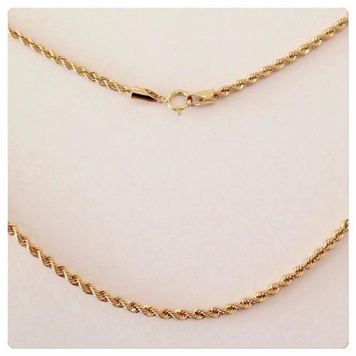 promoção gargantilha cordão baiano 45cm ouro 18k 750+ brinde