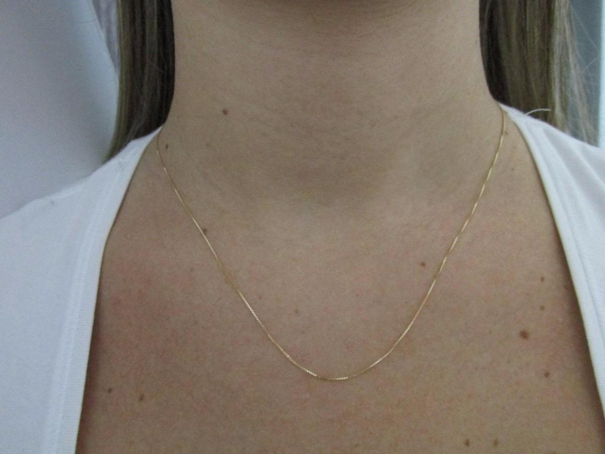 355ba8445daa7 promoção gargantilha veneziana 50cm jóia em ouro 18k-750. Carregando zoom.