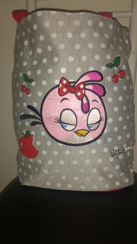 promoção imperdível!!! bolsa angry bird dupla face, produto