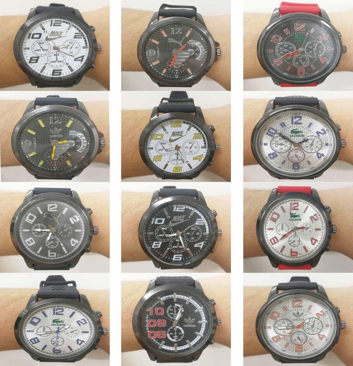 72592ef8537 promoção kit 10 relógios masculino de silicone atacado. Carregando zoom.