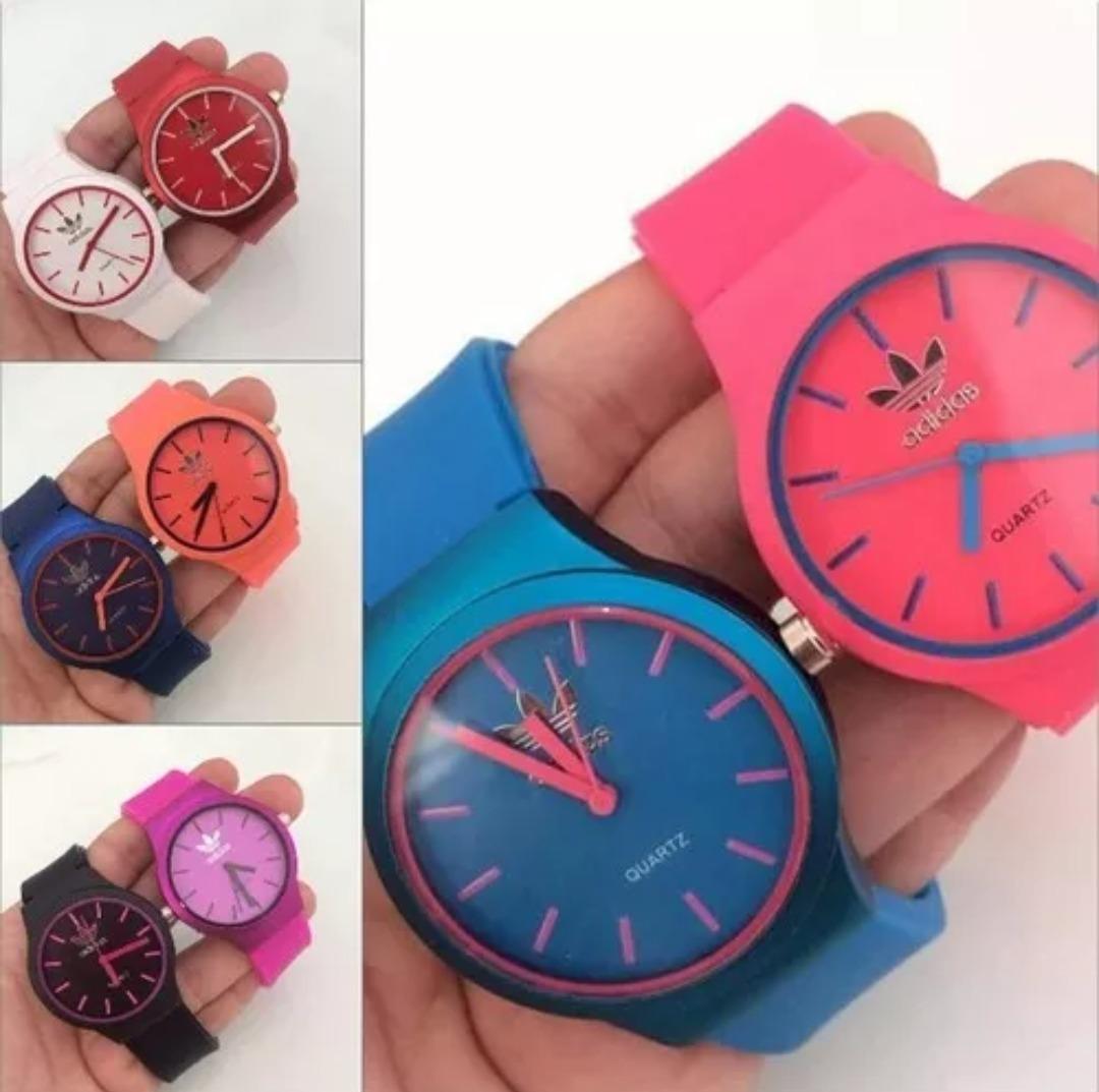 c030a3c64df promoção!! kit 2 relógios feminino silicone atacado ...