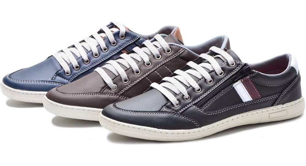 92475c63a5 promoção kit 3 pares sapatenis tenis casual masculino sapato. Carregando  zoom.