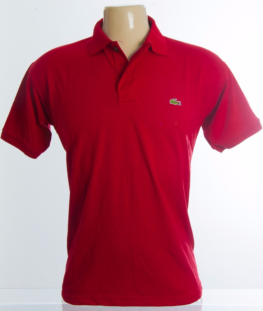 Promoção Kit 4 Camisa Polo Lacoste Masculina Botão Madeira - R  120 ... 4ddc7ebd21624