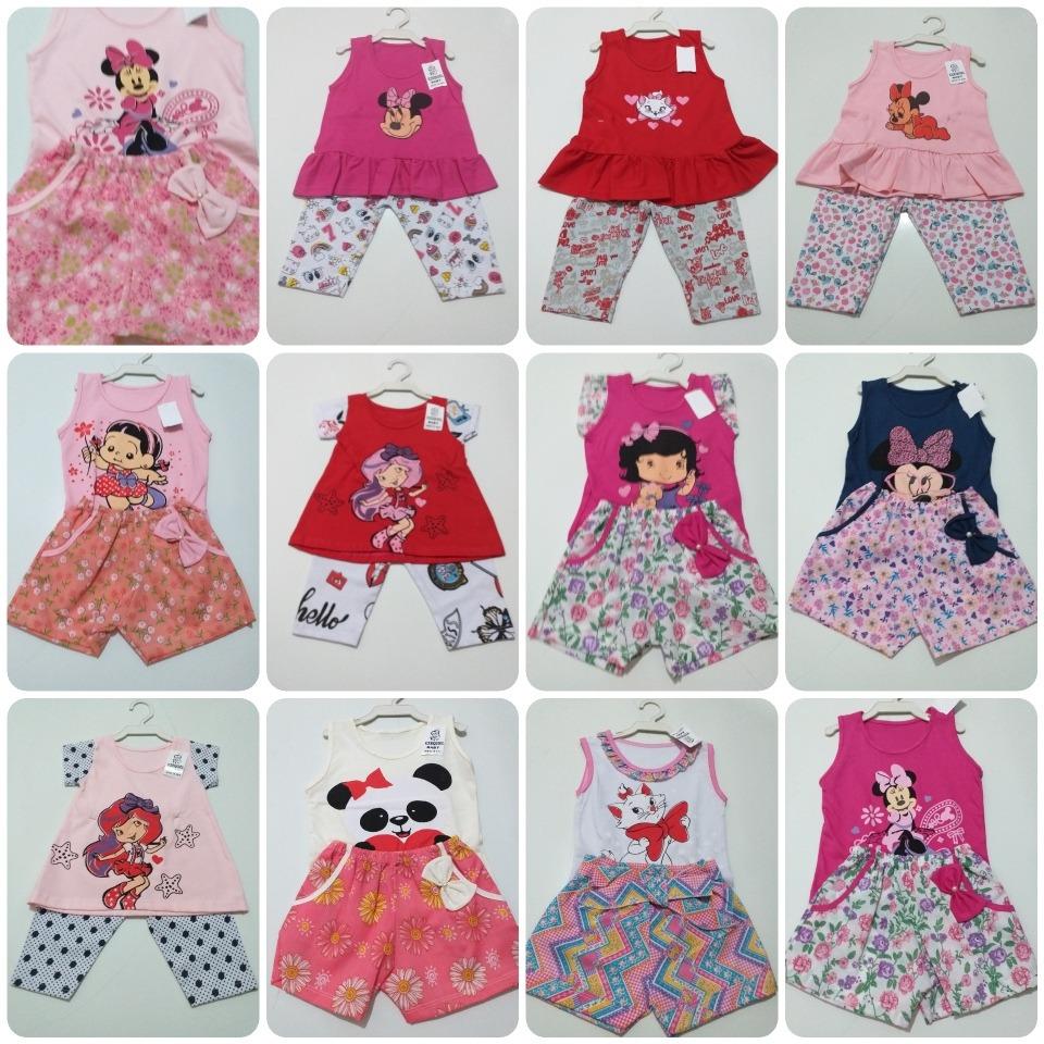 e6a17a2a28 promoção kit atacado 12 roupas infantil bebe menina 0123anos. Carregando  zoom.