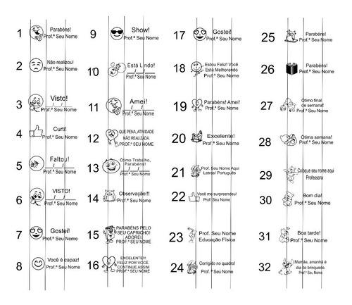 promoção kit com 10 carimbos pedagógicos