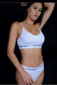 7a67305b3 Conjunto Lingerie Calcinhas + Sutiã Calvin Klein - Moda Íntima e ...