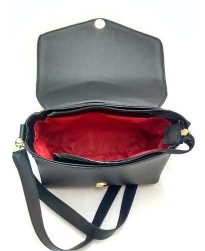 promoção kit com 3 bolsas feminina lorena baú+carteira