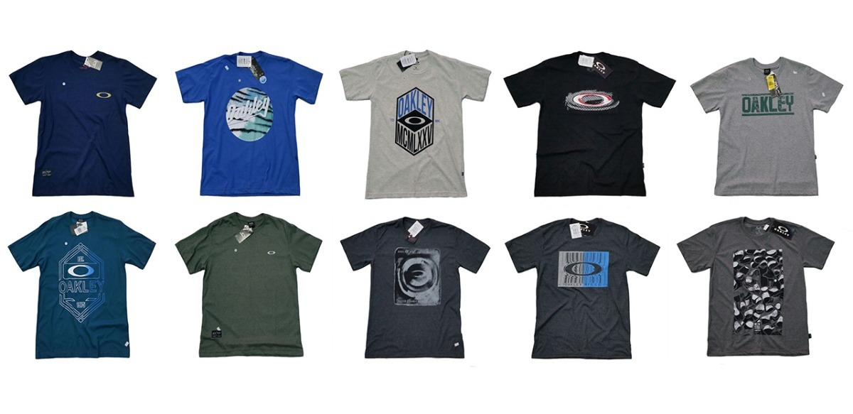 Promoção Kit Lote 10 Camisa Camiseta Oakley Masculina 2018 - R  265 ... e67a48ff4b2