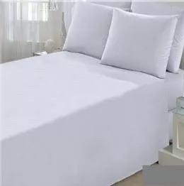 0ac556216a Promoção Lençol Solteiro Branco Com Elástico Kit Com 10 - R  119
