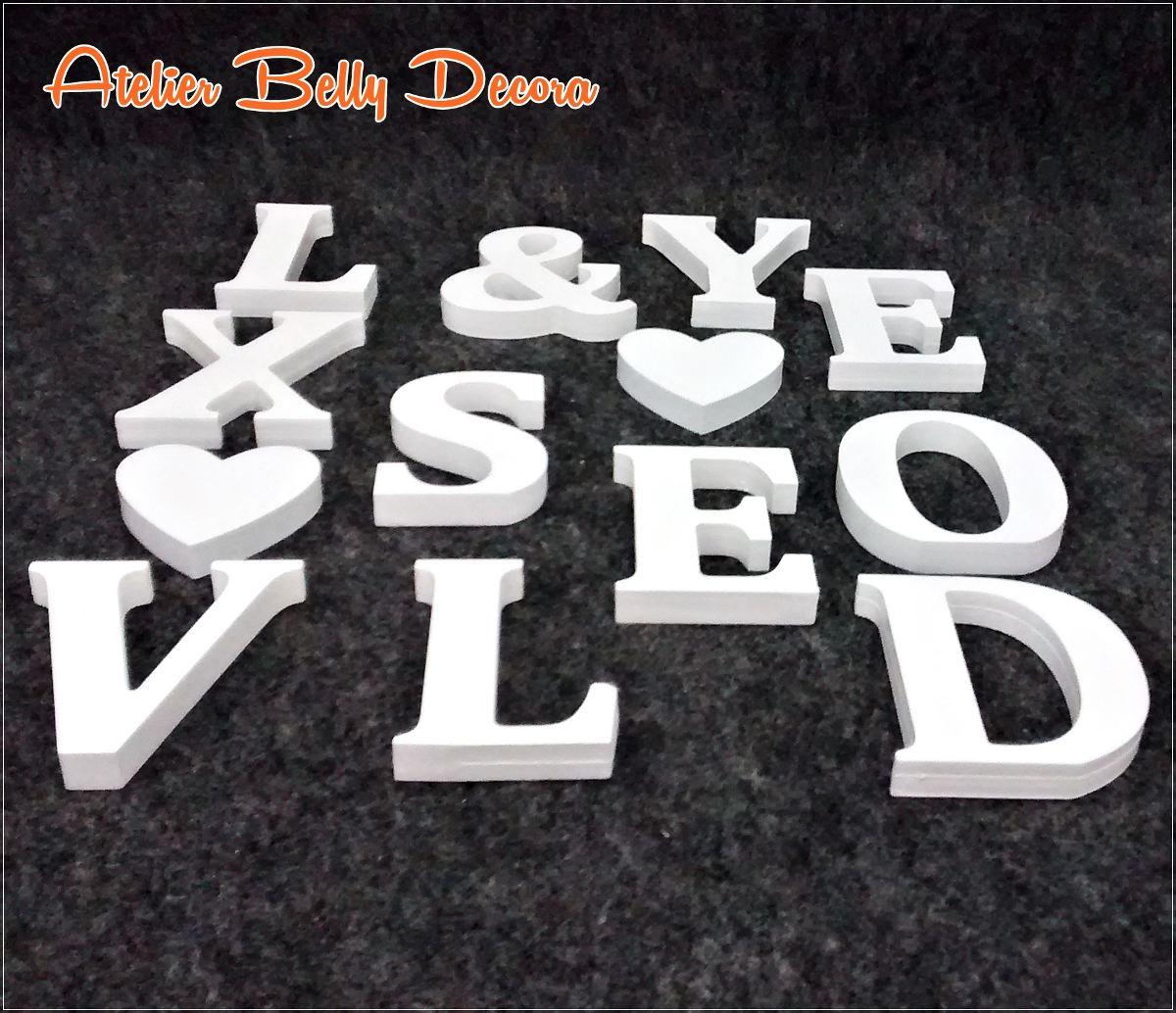 Promo o letras decorativas mdf pintado festa anivers rio - Letras decorativas pared ...