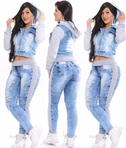 promoção liquida estoque inverno conjunto jeans c moletom