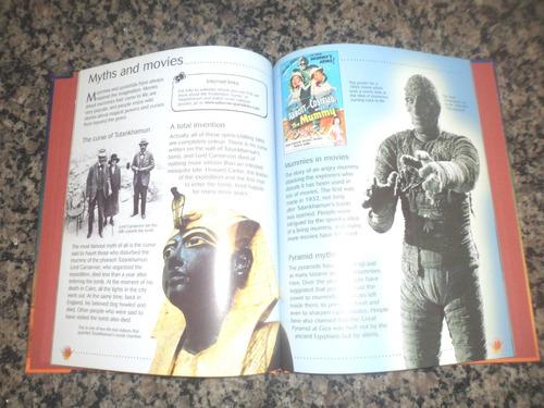 promoção - livro mummies and pyramids - usborne discovery