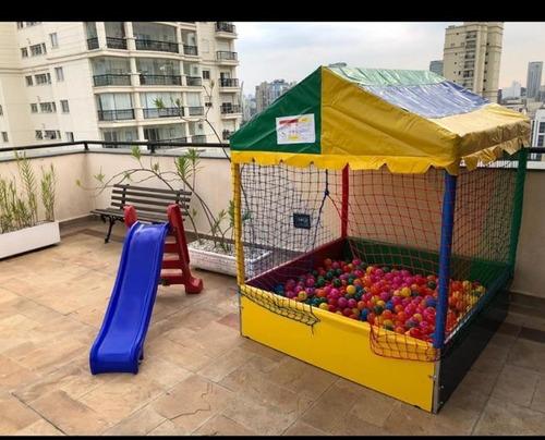 promoção !! locação de cama elástica + piscina de bolinhas !