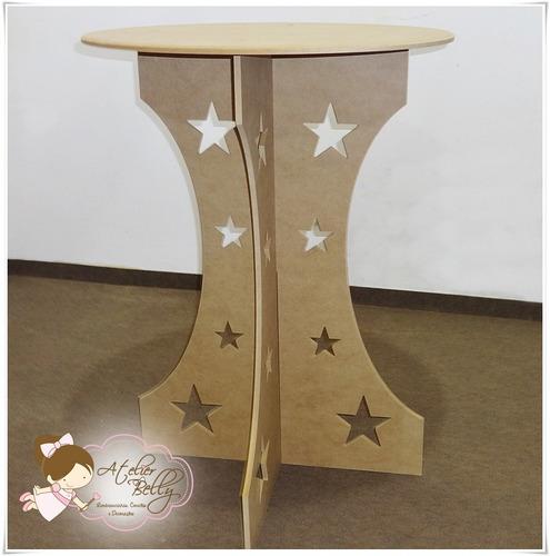 promoção -  mesa provençal mdf cru desmontavel  estrela