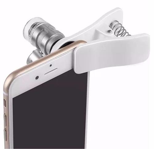 promoção mini microscópio lupa 60x + leds +brinde p/ celular