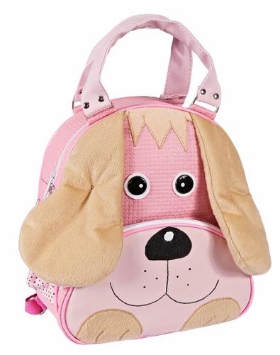 promoção mochila  infantil cachorro rosa m