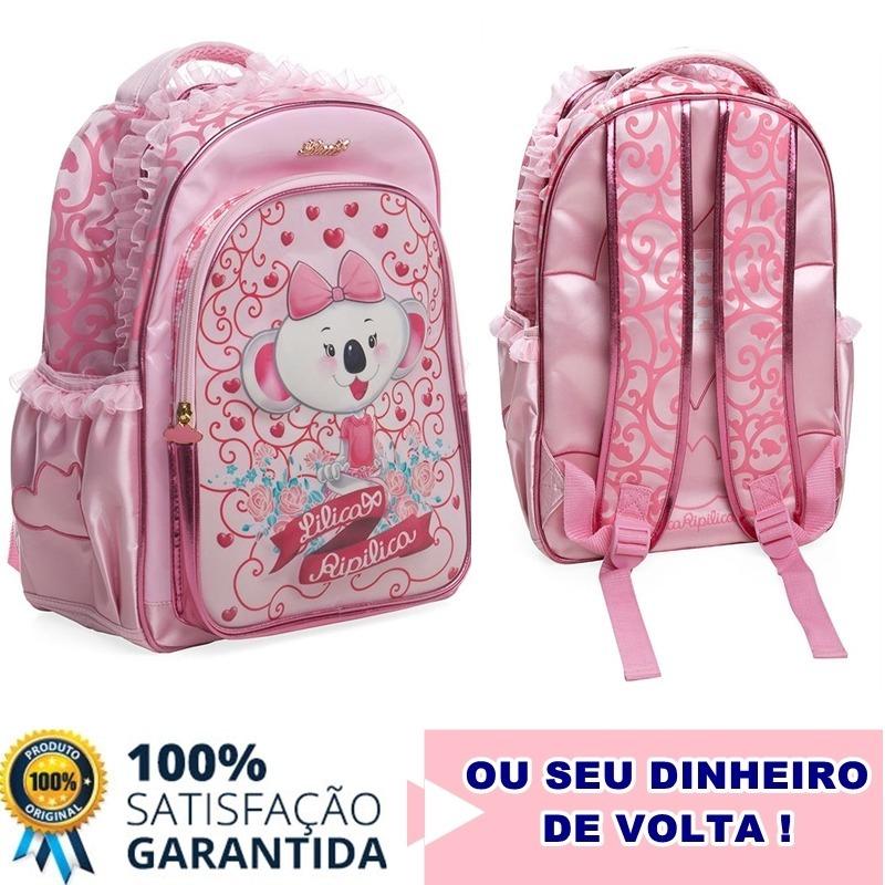 ceaff1a036 promoção mochila infantil rosa de costas lilica ripilica. Carregando zoom.