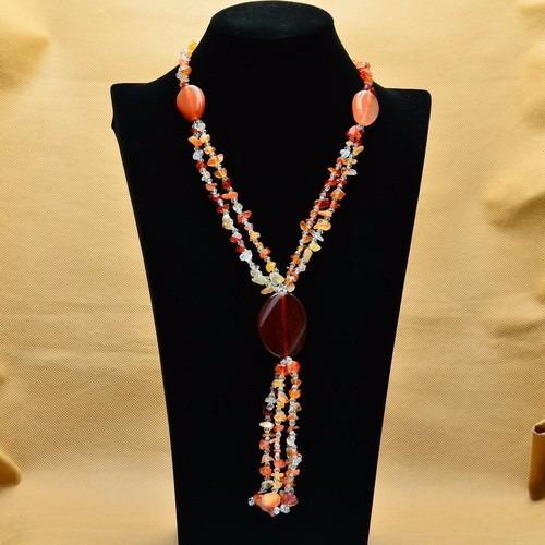 promoção moderno colar pedras ágata naturais e cristais a878