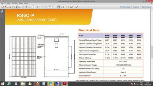 promoção, modulo painel placa solar 250/260w. 12x sem juros