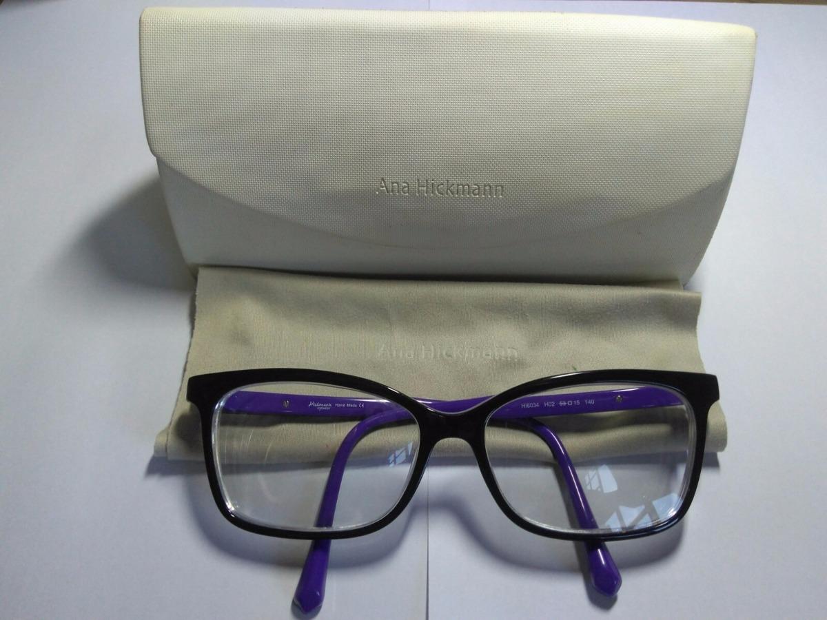 08ba5c1c72c8e Promoção!!! Óculos De Grau Feminino Ana Hickmann - Seminovo - R  160 ...