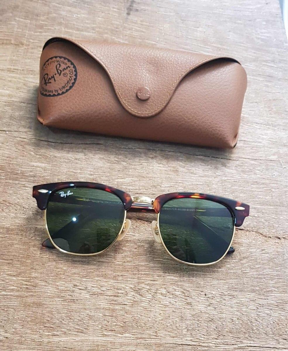 76a0e44dfabce promoção óculos de sol ray-ban clubmaster tartaruga g15. Carregando zoom.
