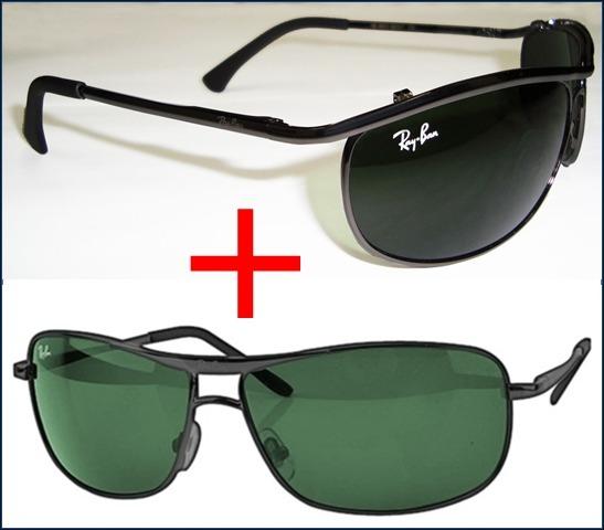 1b3fec4f992f3 Promoção Óculos De Sol Ray Ban Demolidor 8012 + Matrix 8013 - R  340,00 em  Mercado Livre