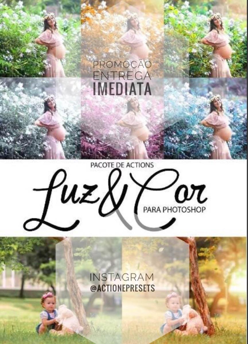 Promoo pacote de aes actions luz cor photoshop r 20 carregando zoom ccuart Image collections