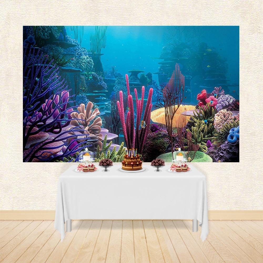 Promoção Painel Festa Em Tecido Fundo Do Mar 603 3x17m R 179